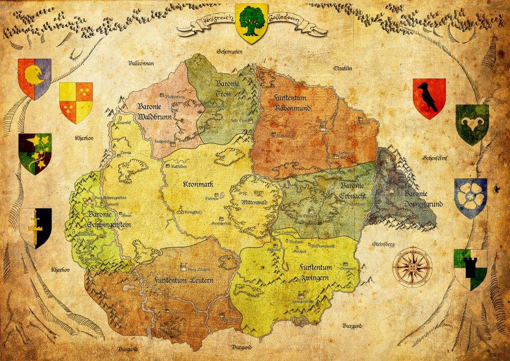 Karte von Galladoorn