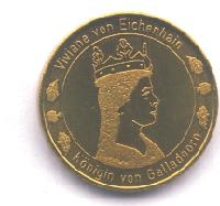 Große Goldmünze Forderseite