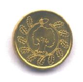 Kleine Goldmünze Rückseite