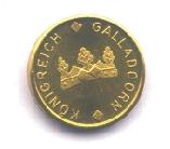 Kleine Goldmünze Forderseite