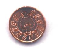 Kleine Kupfermünze Rückseite