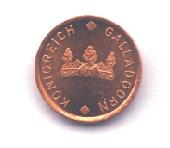 Kleine Kupfermünze Forderseite
