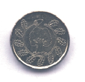 Kleine Silbermünze Rückseite