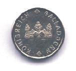 Kleine Silbermünze Forderseite